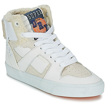 Shoes Women Hi top trainers Superdry MARIAH HIGH TOP White