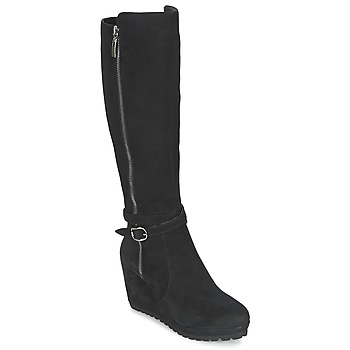 Shoes Women High boots Moda In Pelle SITA  BLACK
