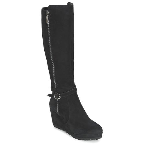 Shoes Women High boots Moda In Pelle SITA Black
