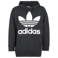 Clothing Men sweaters adidas Originals TREF OVER HOOD Black