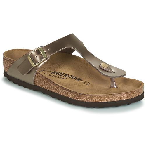 Shoes Women Flip flops Birkenstock GIZEH Bronze