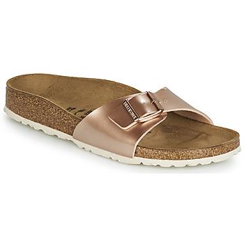 Shoes Women Mules Birkenstock MADRID Pink / Gold