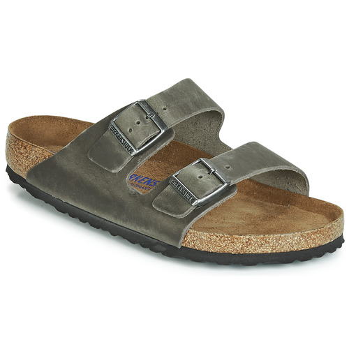 Shoes Men Mules Birkenstock ARIZONA SFB Grey