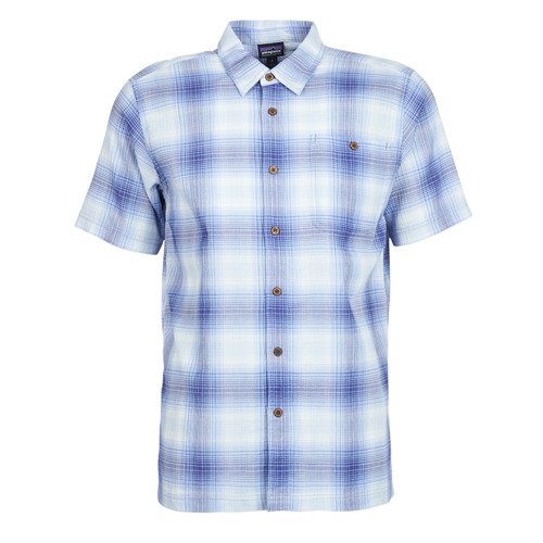 Clothing Men Short-sleeved shirts Patagonia A/C Shirt Blue