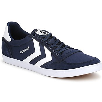 Shoes Low top trainers Hummel SLIMMER STADIL LOW Dress Blue / White