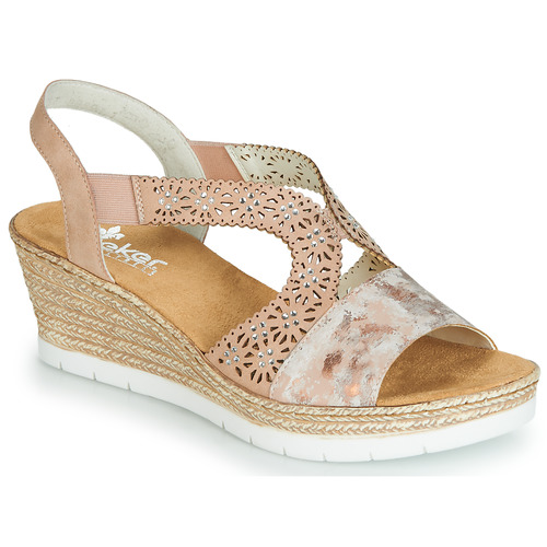 Shoes Women Sandals Rieker SALOMAN Pink