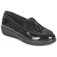 Shoes Women Loafers FitFlop PAIGE FAUX-PONY Black