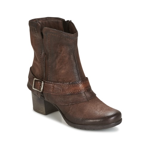 Shoes Women Ankle boots Dream in Green VINEL CAFE-6116-COFFEE