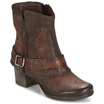 Ankle boots / Boots Dream in Green VINEL CAFE-6116-COFFEE 350x350