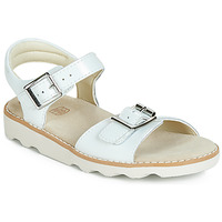 Shoes Girl Sandals Clarks Crown Bloom K White