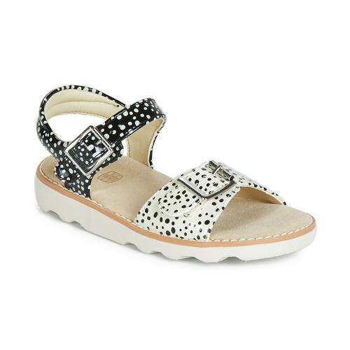 Shoes Girl Sandals Clarks Crown Bloom K Black