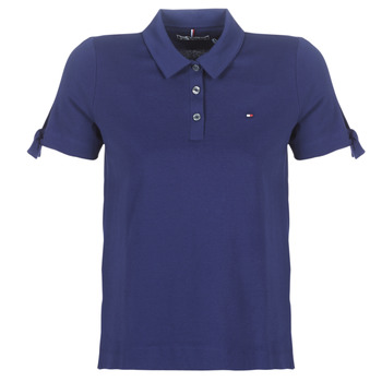 Clothing Women Short-sleeved polo shirts Tommy Hilfiger BRITT PQ POLO SS Marine