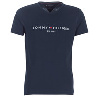 Clothing Men short-sleeved t-shirts Tommy Hilfiger TOMMY FLAG HILFIGER TEE Marine