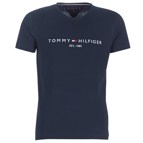 Clothing Men Short-sleeved t-shirts Tommy Hilfiger TOMMY FLAG HILFIGER TEE Marine