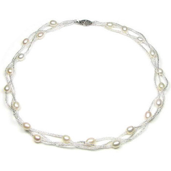 Watches Women Necklaces Blue Pearls BPS 0202 Y White