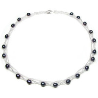 Watches & Jewellery  Women Necklaces Blue Pearls BPS 0202 Y Black