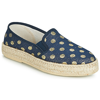 Shoes Women Espadrilles Rondinaud GALLO Marine / Gold