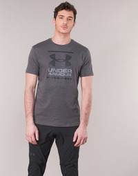 Clothing Men short-sleeved t-shirts Under Armour GL FOUNDATION SS Grey / Anthracite