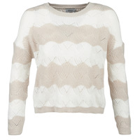 Clothing Women Jumpers Only ONLKARO Beige / Ecru