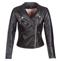 Clothing Women Leather jackets / Imitation leather Only ONLGEMMA Black