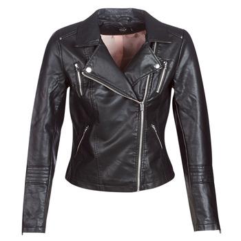 Clothing Women Leather jackets / Imitation leather Only ONLGEMMA Black