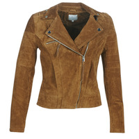 Clothing Women Leather jackets / Imitation leather Vila VICRIS Cognac