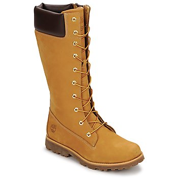 Shoes Children High boots Timberland GIRLS CLASSIC TALL LACE UP WITH SIDE ZIP Cognac