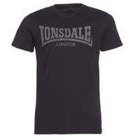 Clothing Men short-sleeved t-shirts Lonsdale LOGO KAI Black