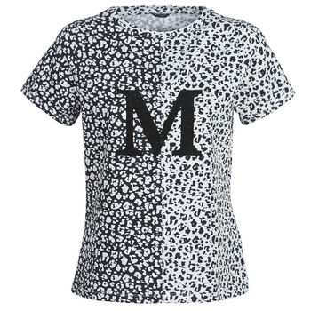 Clothing Women short-sleeved t-shirts Marciano RUNNING WILD Black / White