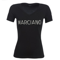 Clothing Women Short-sleeved t-shirts Marciano LOGO PATCH CRYSTAL Black