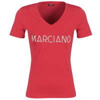 Clothing Women short-sleeved t-shirts Marciano LOGO PATCH CRYSTAL Red