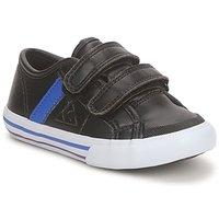 Shoes Boy Low top trainers Le Coq Sportif SAINT MALO Black / Blue