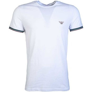 Clothing Men short-sleeved t-shirts Armani T Shirt 110853 8A510 white