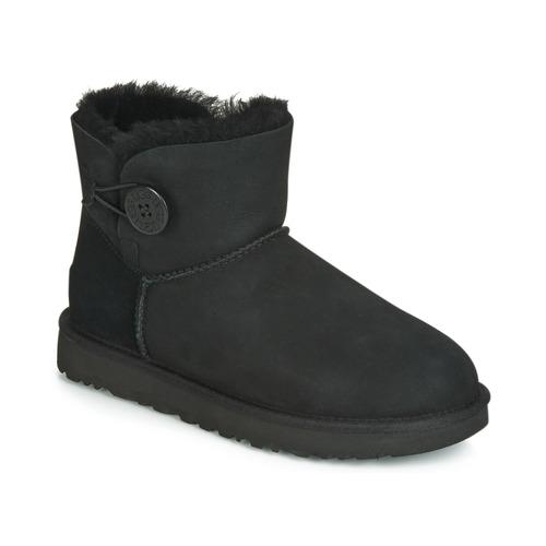Shoes Women Mid boots UGG MINI BAILEY BUTTON II Black