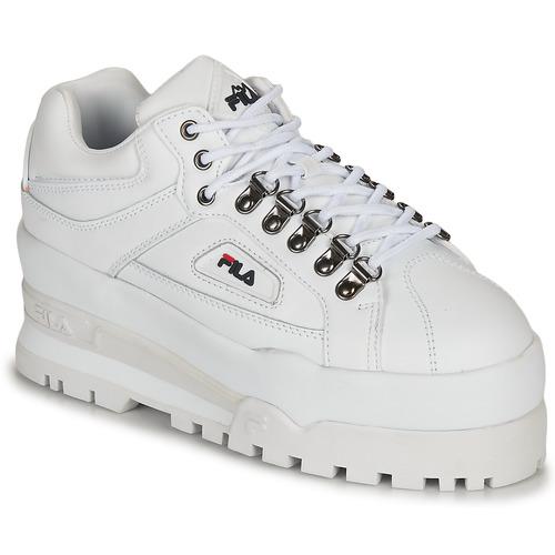 Shoes Women Low top trainers Fila TRAILBLAZER WEDGE WMN White