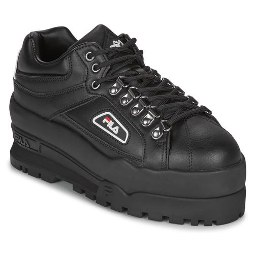 Shoes Women Low top trainers Fila TRAILBLAZER WEDGE WMN Black