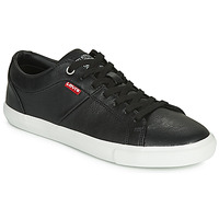 Shoes Women Low top trainers Levi's WOODS W Black
