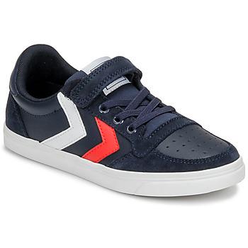Shoes Children Low top trainers Hummel SLIMMER STADIL LEATHER LOW JR Blue