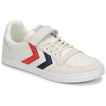 Shoes Children Low top trainers Hummel SLIMMER STADIL LEATHER LOW JR White