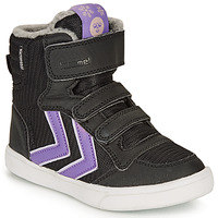 Shoes Girl Hi top trainers Hummel STADIL POLY BOOT MID JR Black