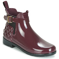Shoes Women Wellington boots Hunter REFINED GLOSS QUILT CHELSEA Bordeaux