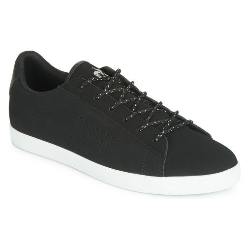 Shoes Women Low top trainers Le Coq Sportif AGATE NUBUCK Black / Silver