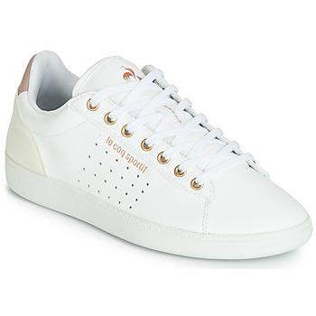 Shoes Women Low top trainers Le Coq Sportif COURTSTAR W BOUTIQUE White / Pink