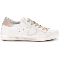 Shoes Women Low top trainers Philippe Model Paris Paris white leather and pale pink patent leather sneaker White
