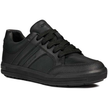 Shoes Boy Low top trainers Geox Arzach Lace Boys Junior Trainer Look School Shoes black