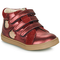 Shoes Girl Hi top trainers Catimini CIGANA Red / Gold
