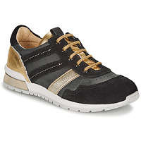 Shoes Girl Low top trainers Catimini CAMELINE Black / Gold