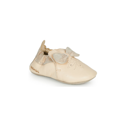 Shoes Girl Slippers Catimini CHOUQUETTE Pink / Gold