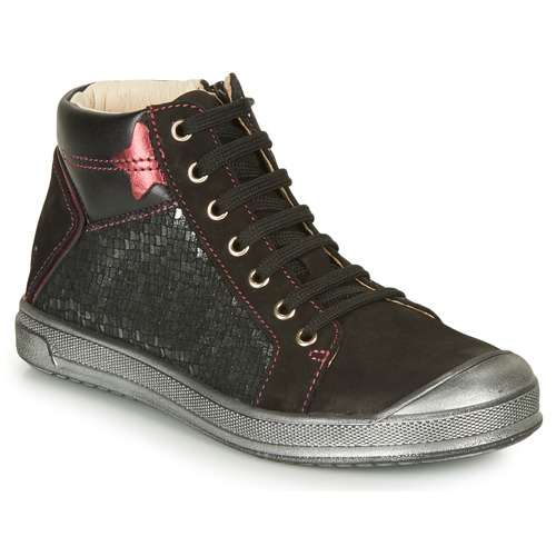 Shoes Girl Hi top trainers GBB ORENGETTE Black / Silver