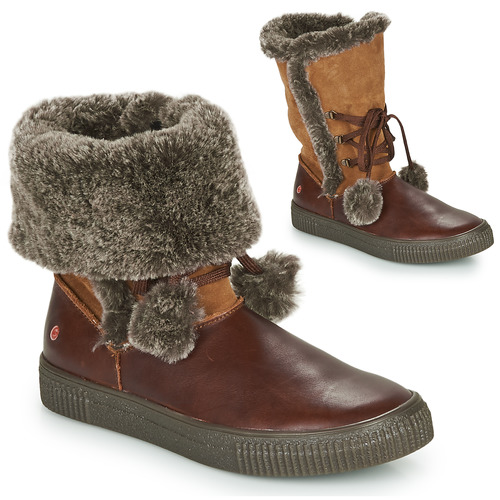 Shoes Girl High boots GBB NOUSTIK Brown